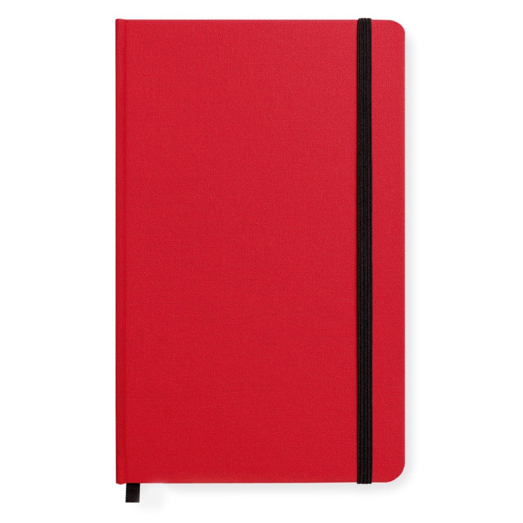 Medium Hard Cover Linen Lined Journal Deep Scarlet By Shinola Detroit