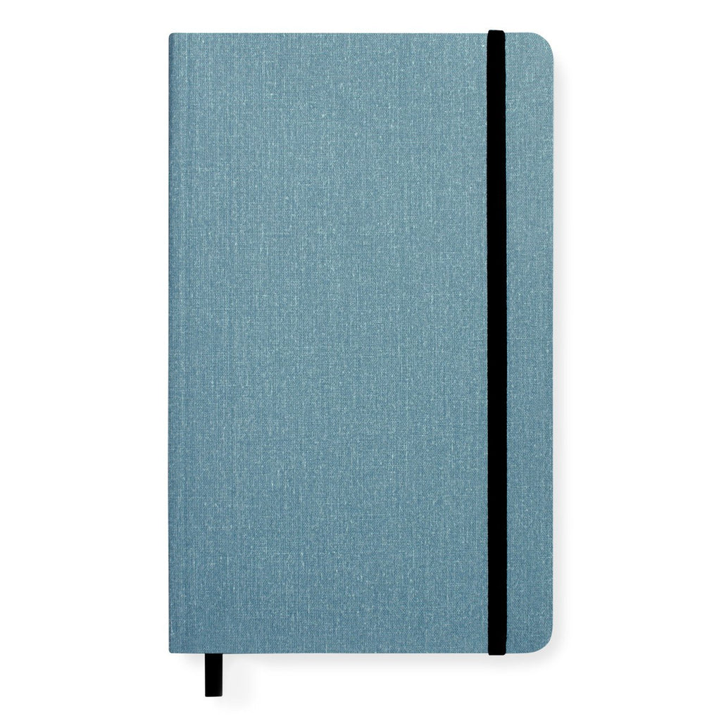 Medium Soft Cover Linen Lined Journal Harbor Blue By Shinola Detroit - 1