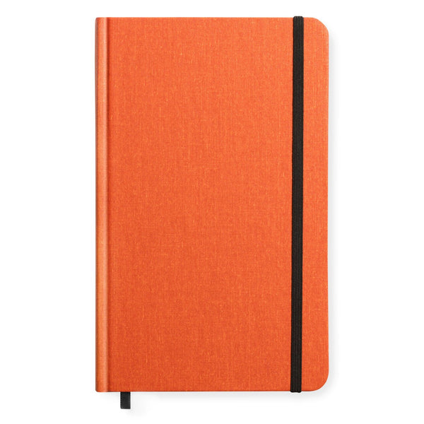 Medium Hard Cover Linen Lined Journal Sunset Orange By Shinola Detroit