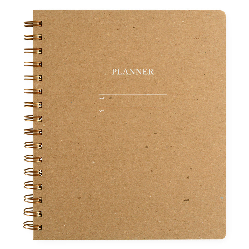 Shorthand Undated Planner | In Five Colors Kraft