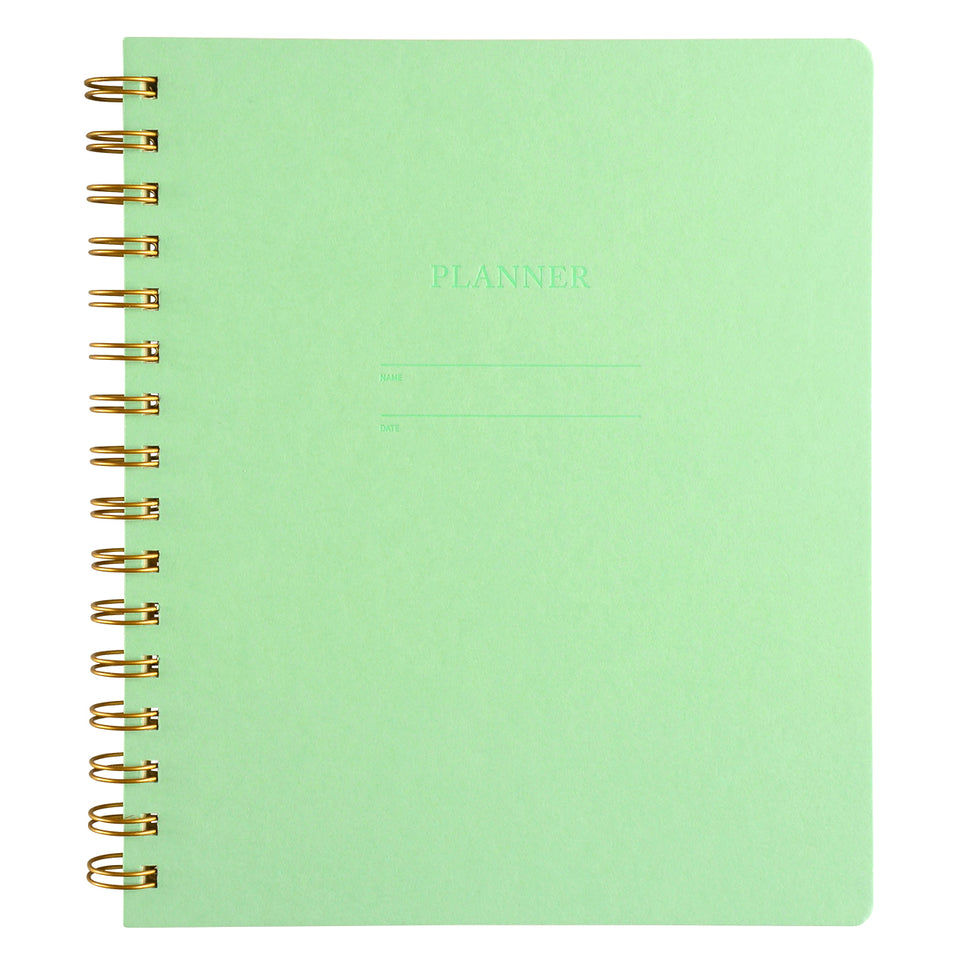 Shorthand Undated Planner | In Five Colors Mint