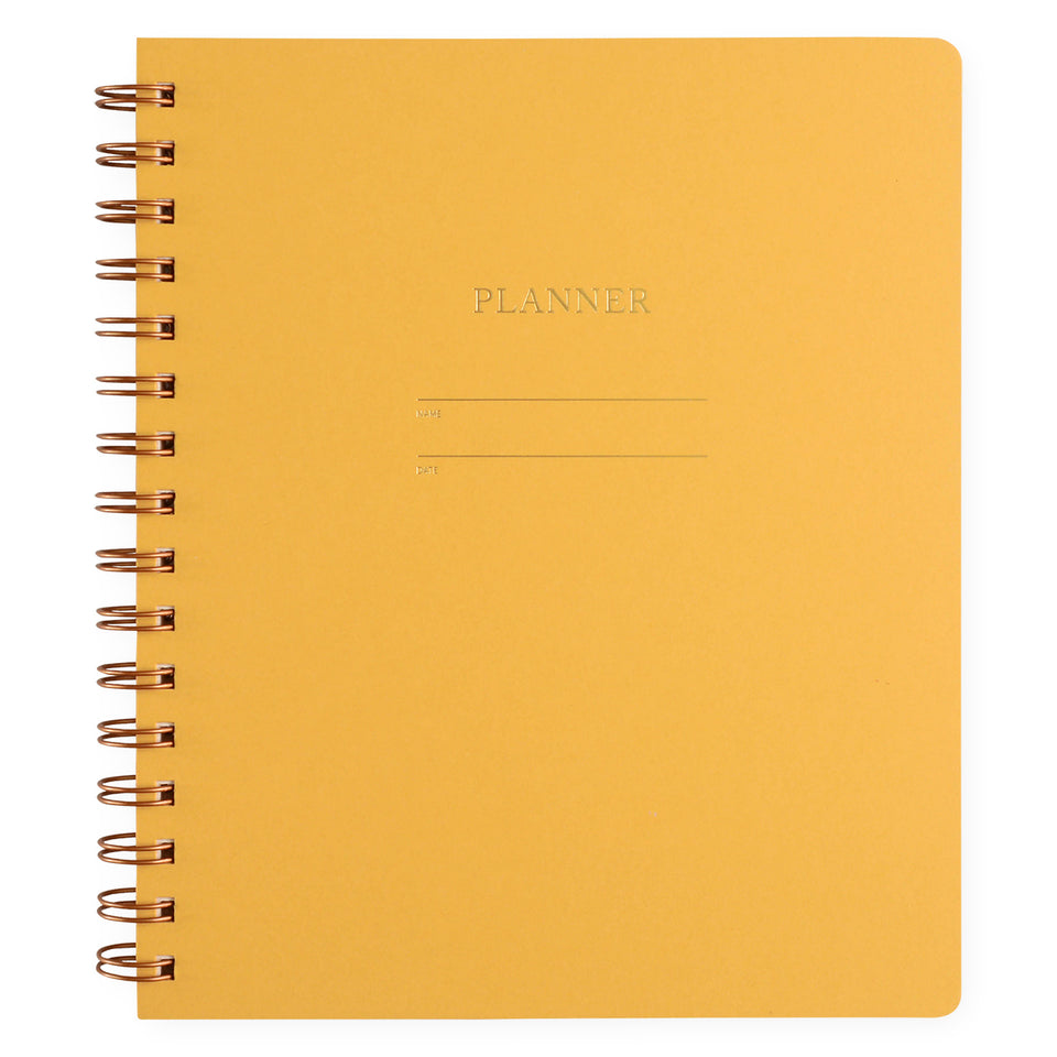 Shorthand Undated Planner | 5 Colors Mustard