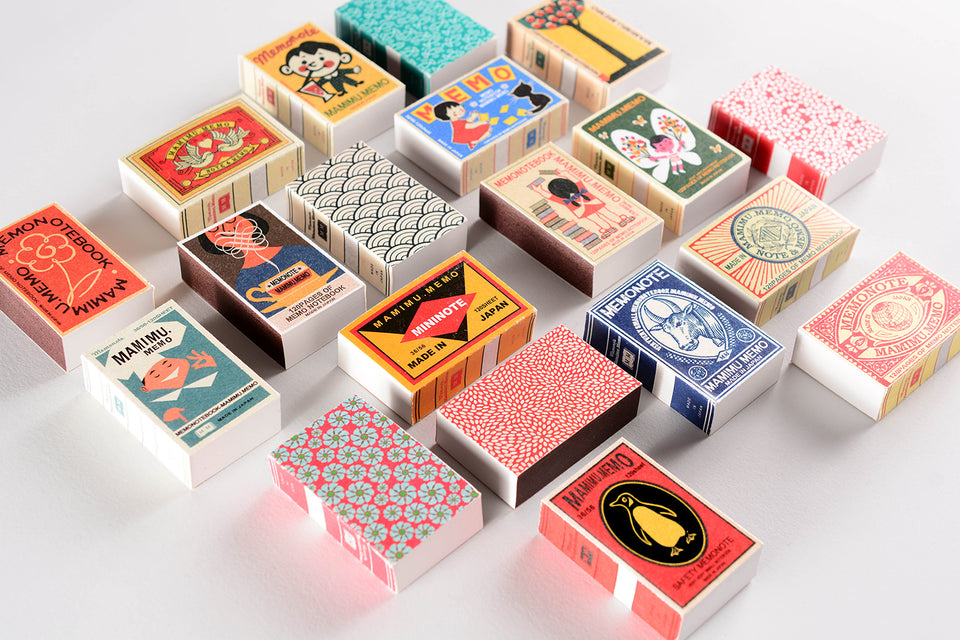Shunkoen Mamimu Japanese Classic Motifs Mini Memo Notebook | Six Designs