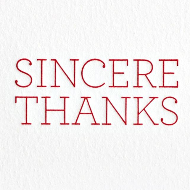Sincere Thanks Boxed Cards By Oblation Papers & Press - 2