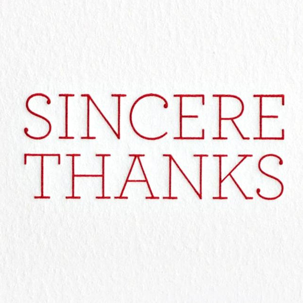 Sincere Thanks Boxed Cards - GREER Chicago Online Stationery
