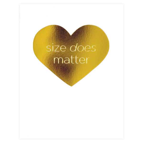 Dee & Lala Size Does Matter Card - GREER Chicago Online Stationery Shop