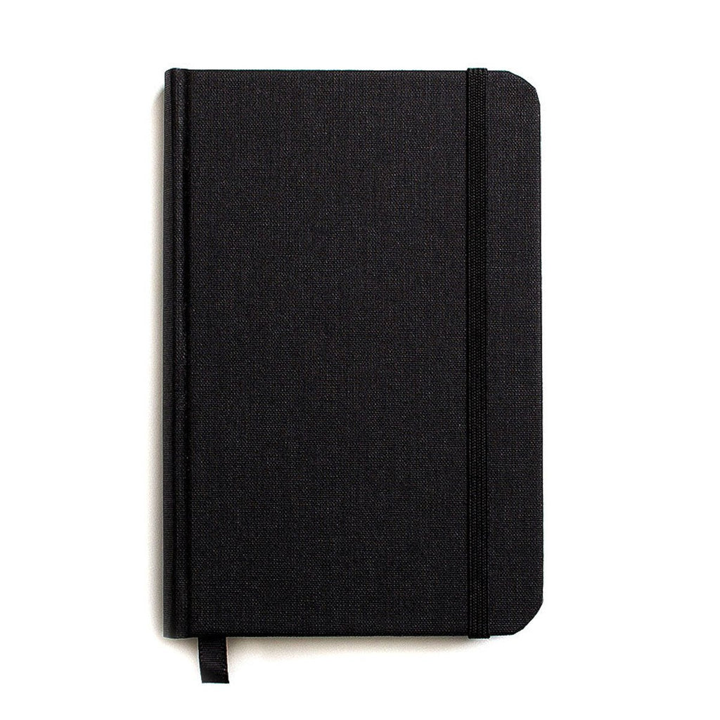 Small Hard Cover Linen Journal Jet Black By Shinola Detroit - 1