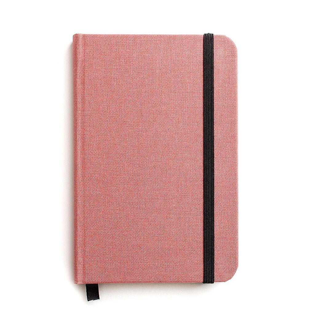 Small Hard Cover Linen Journal Salmon Pink - GREER Chicago Online Stationery