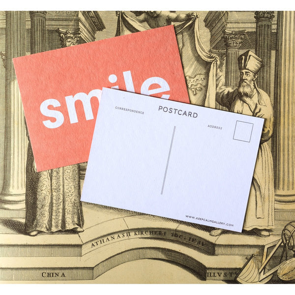 Calm Gallery Smile Postcard - GREER Chicago Online Stationery Shop