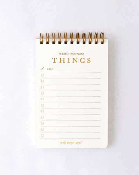 Smitten on Paper Important Today Notepad - GREER Chicago Online Stationery Shop