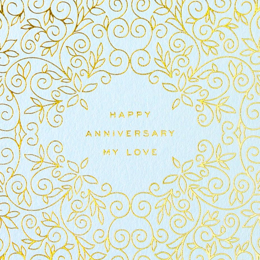 Smitten on Paper Happy Anniversary My Love Greeting Card