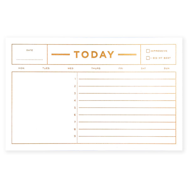 Smitten on Paper Today Notepad - GREER Chicago Online Stationery Shop