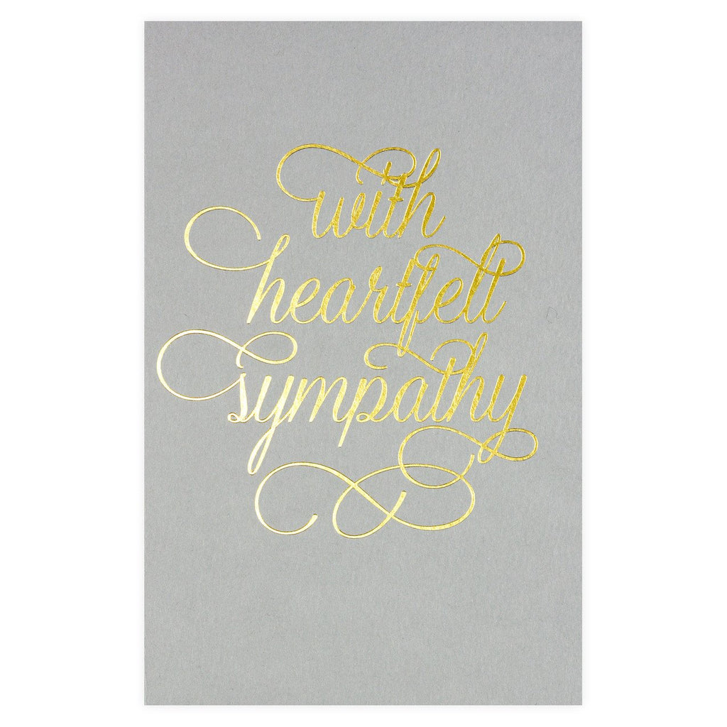 Sympathy Script Gold Foil Greeting Card By SMOCK