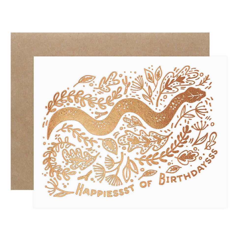 Paper Parasol Press Snake Birthday Card