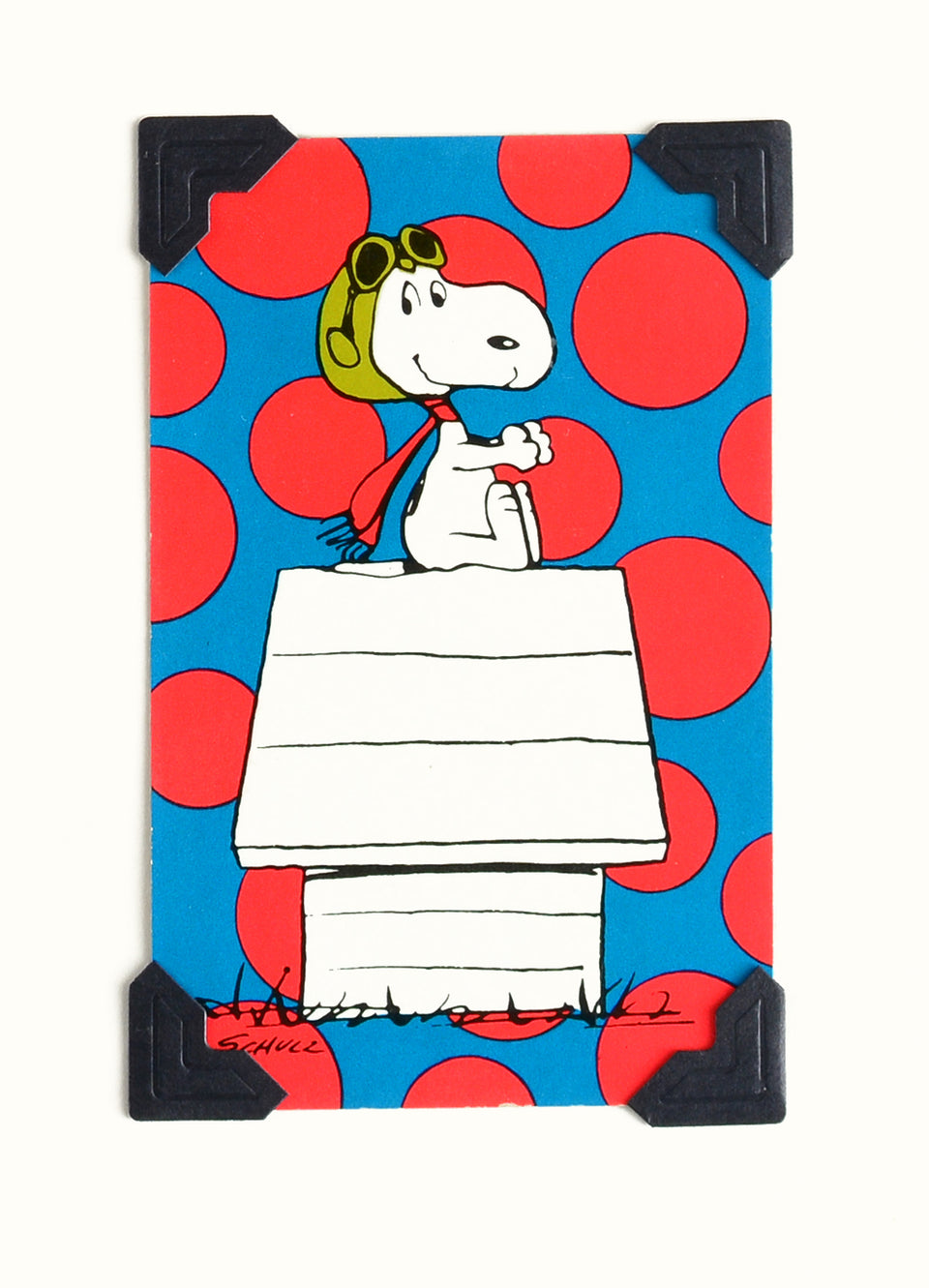 Vintage Playing Cards Vintage Playing Card Snoopy Flying Ace Greeting Card