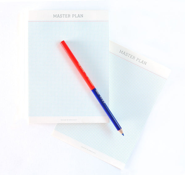 Snow & Graham Master Plan Gridpad Notepad - GREER Chicago Online Stationery Shop