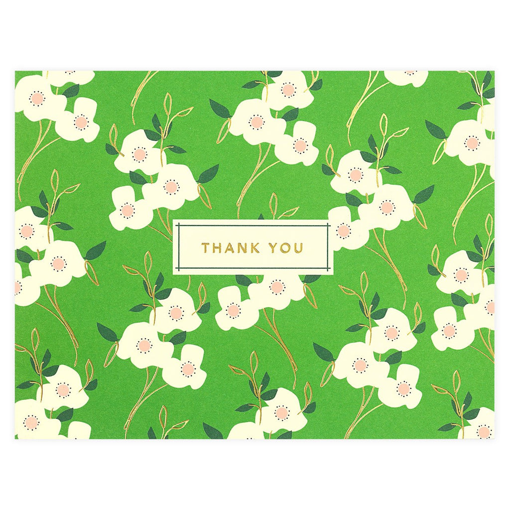 Primrose Folded Thank You Card - GREER Chicago Online Stationery