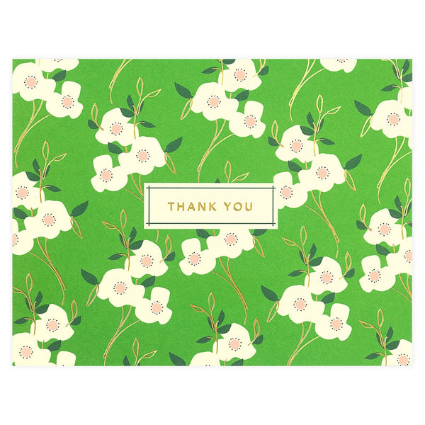 Snow & Graham Primrose Folded Thank You Card - GREER Chicago Online Stationery Shop