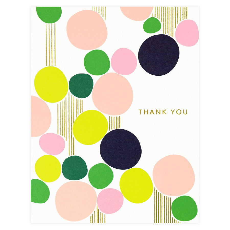 Snow & Graham Stones Folded Thank You Card - GREER Chicago Online Stationery Shop