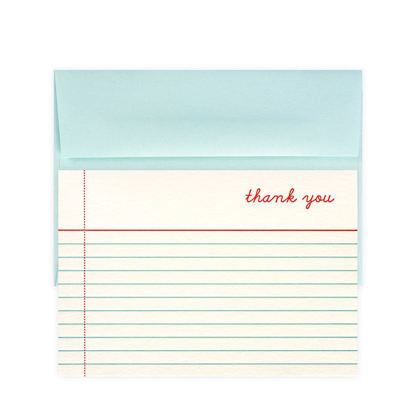 Thank You Note Folded Boxed Cards By Snow & Graham - 1