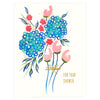 Snow & Graham Wedding Hydrangea Shower Greeting Card - GREER Chicago Online Stationery Shop
