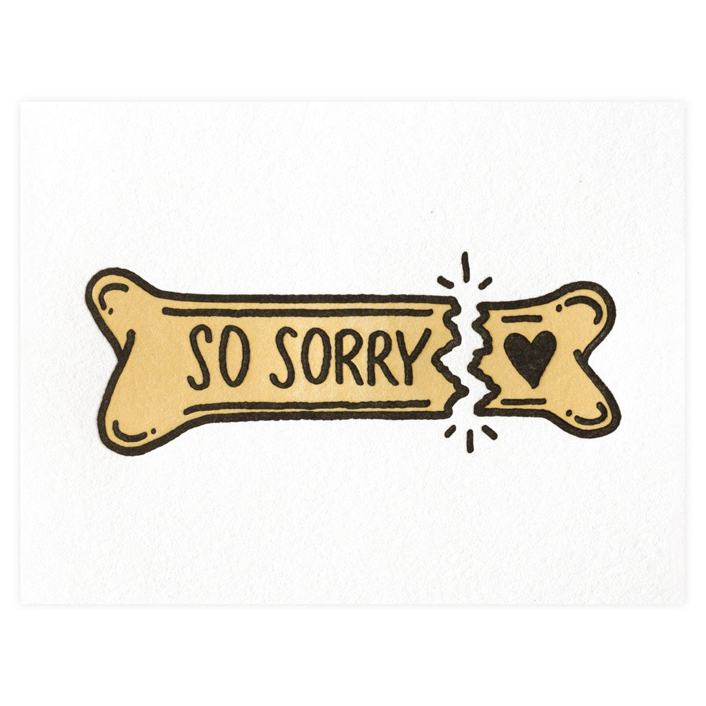 So Sorry Pet Sympathy Greeting Card - GREER Chicago Online Stationery
