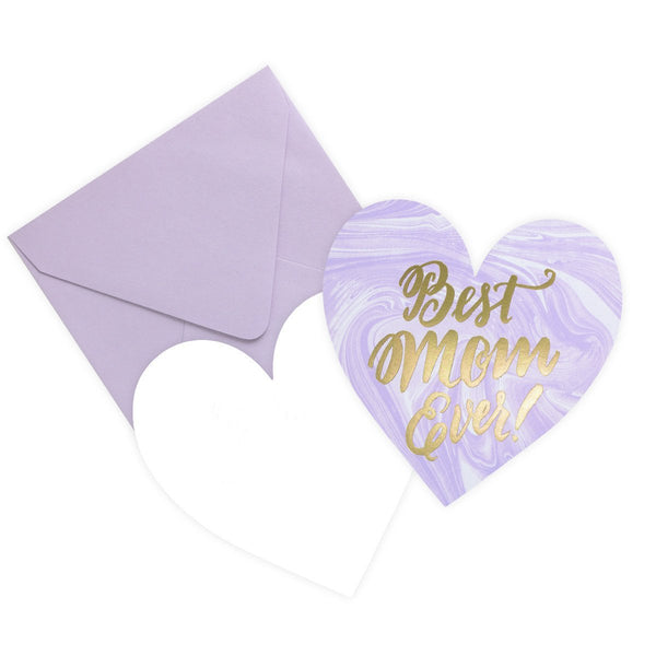 Best Mom Ever! Heart Mother's Day Card - GREER Chicago Online Stationery