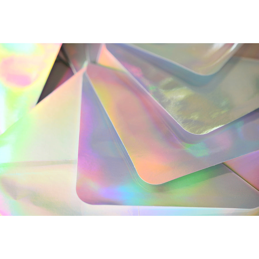 The Social Type Silver Hologram Envelope Flat Note Cards Boxed