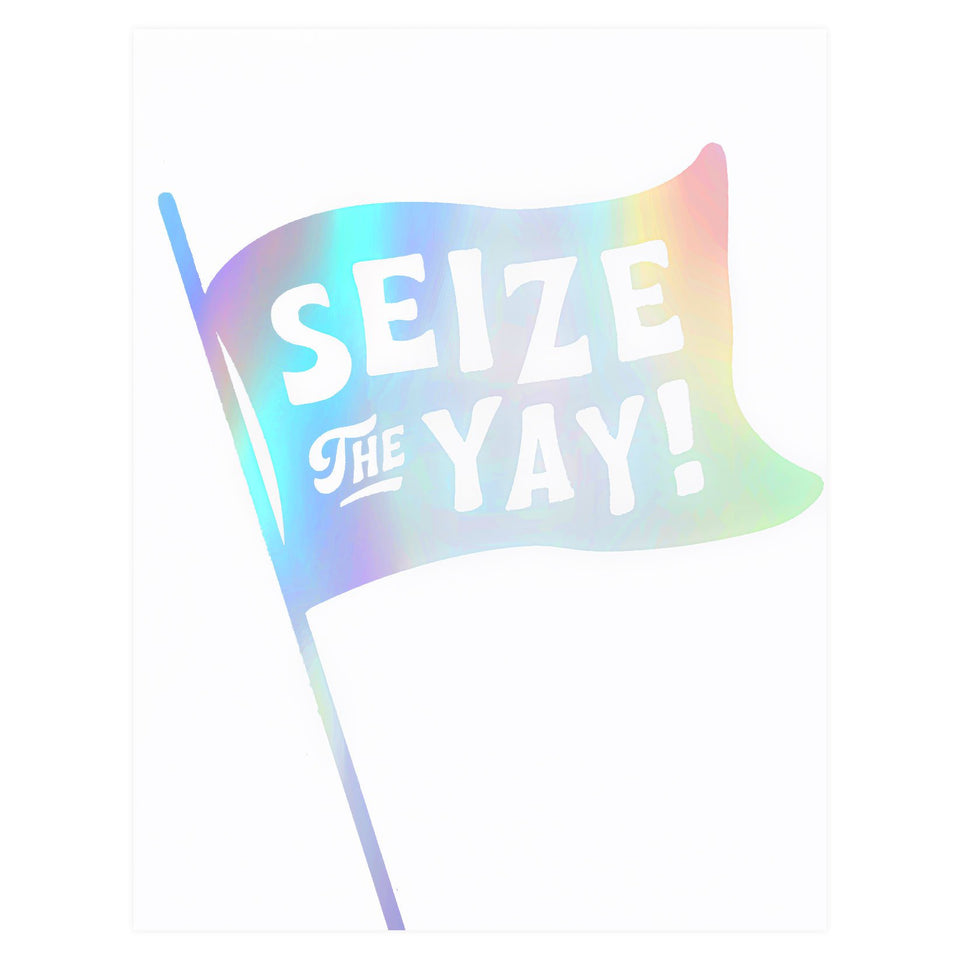 The Social Type Seize the Yay Greeting Card