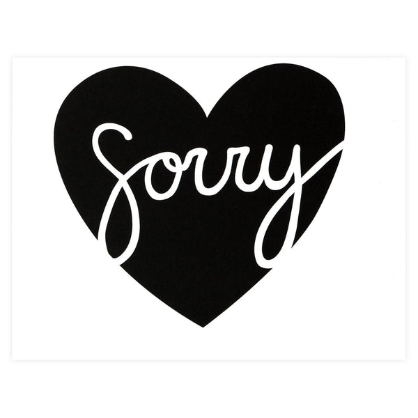 Sorry Heart Greeting Card By The Paper Cub