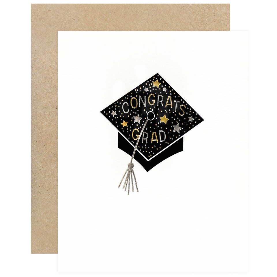 Elum Sparkle Cap Graduation Card