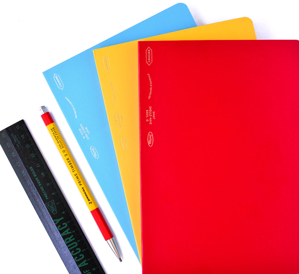 Stalogy 365Days Notebook A5 | Blue, Red or Yellow