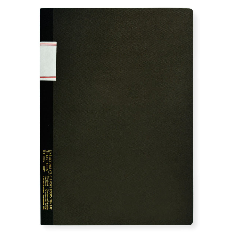 "Stalogy 7 x 10"" Notebook Black"