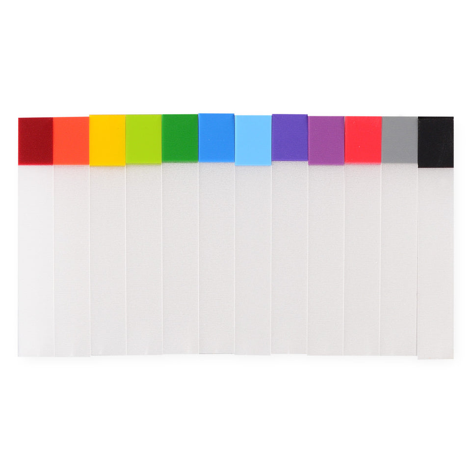 Stalogy Thin Writable Plastic Sticky Note Page Flags 12 Colors | Package of 120