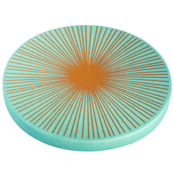 Ceramic Starburst Trivet Blue - GREER Chicago Online Stationery
