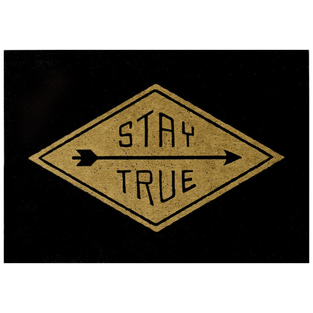 Stay True Postcard By Hammerpress - 1