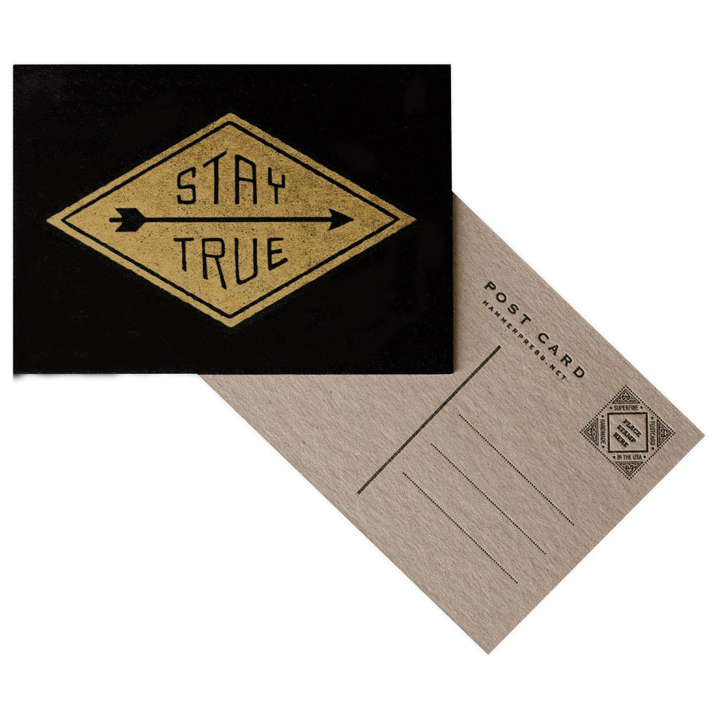 Stay True Postcard By Hammerpress - 2