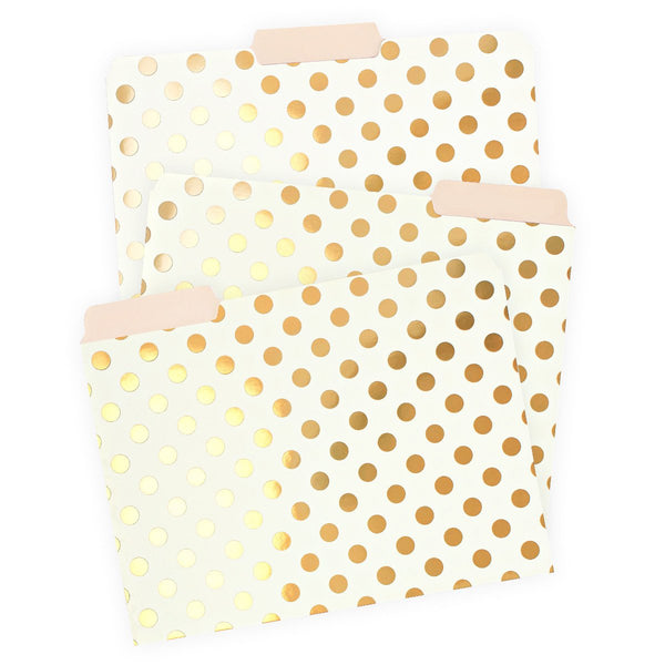 Strike Gold File Folders By Kate Spade