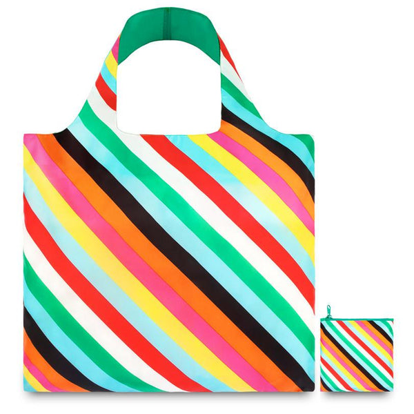 Stripes Reusable Tote Bag By LOQI - 1