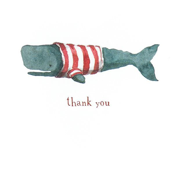 Stripey Whale Thank You Boxed Cards By E. Frances Paper - 2