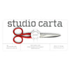 Angela Liguori Scarlet Red Handle Scissors Medium