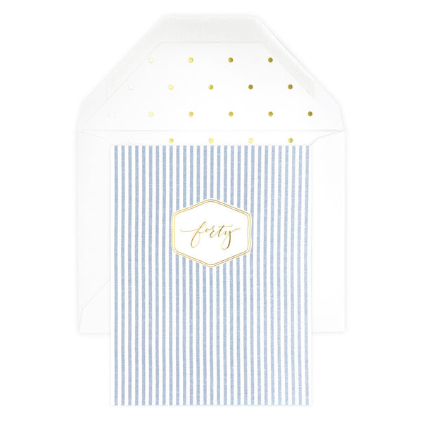 Sugar Paper LA Milestone Forty Birthday Card - GREER Chicago Online Stationery Shop