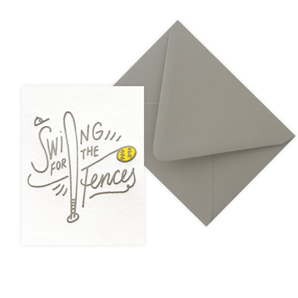 Swing For The Fences Good Luck Card By Bench Pressed - 2