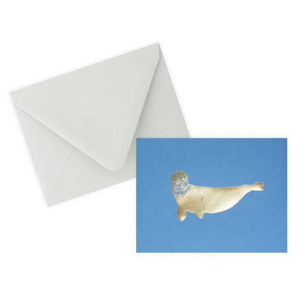 Gold Foil Seal Folded Note Card By Sycamore Street Press - 1