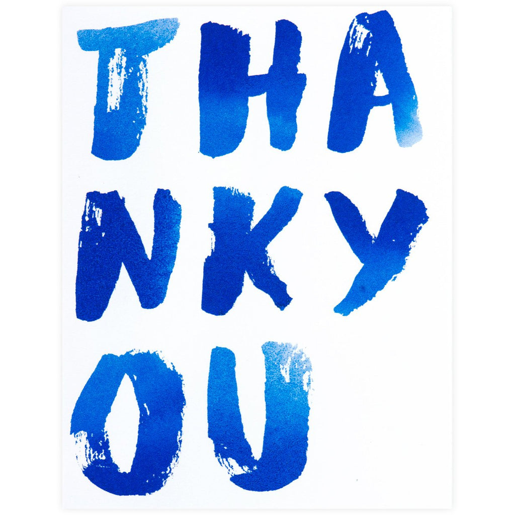 Thank You Indigo Card or Boxed Set By Sycamore Street Press
