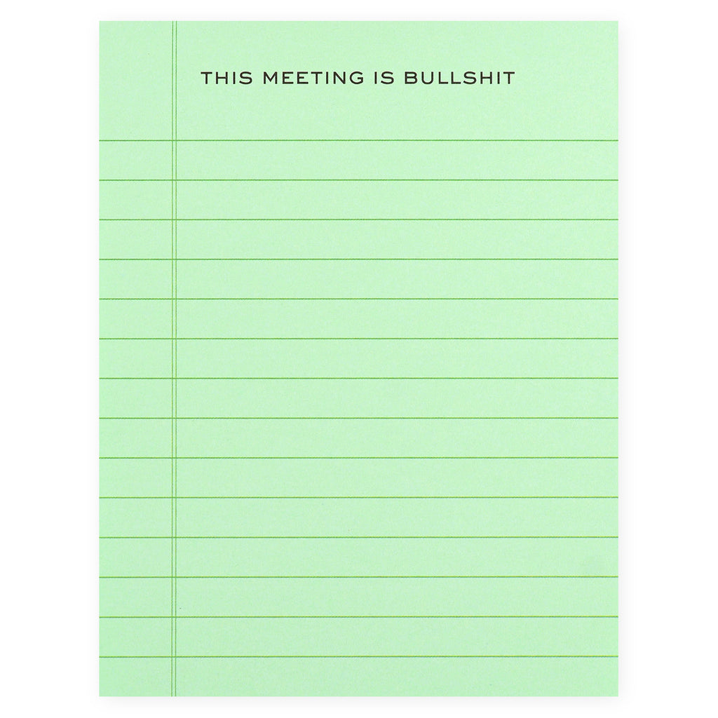 Terrapin Stationers This Meeting is Bullsh*t Notepad