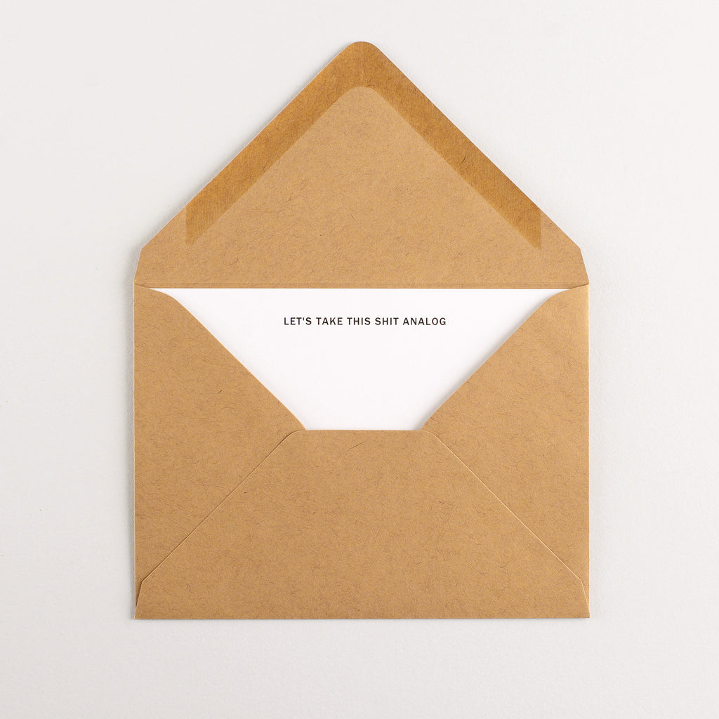 Terrapin Stationers Analog Flat Note Cards Boxed
