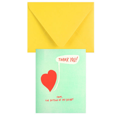 Ladyfingers Letterpress Thank You From The Bottom Of My Heart - GREER Chicago Online Stationery Shop