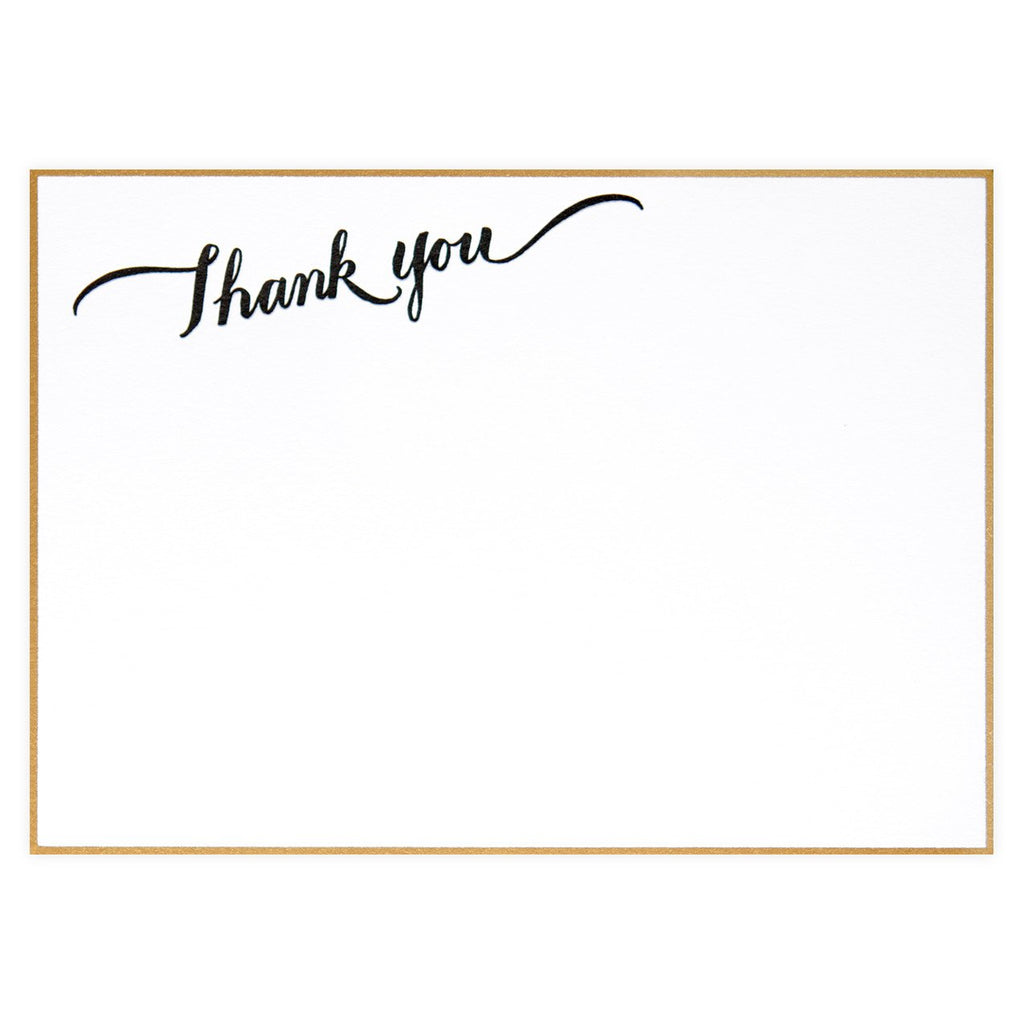 Thank You Calligraphy Boxed Flat Cards By Sugar Paper LA - 2