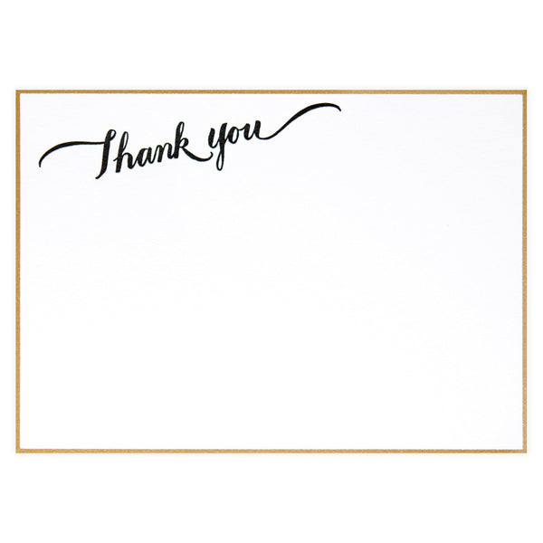 Thank You Calligraphy Boxed Flat Cards By Sugar Paper LA - 1